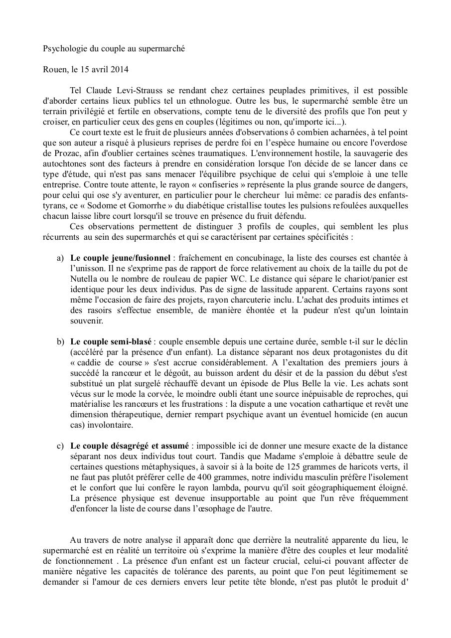 Aperçu du document Psychologie du couple au Supermarché..pdf - page 1/2