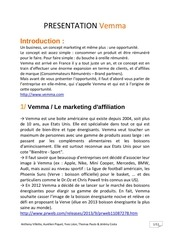 presentation textuelle de vemma 1