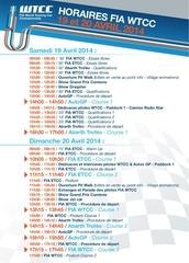 programme wtcc 19 20avril2014