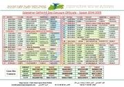calendrier definitif des concours officiels modifier
