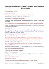 Fichier PDF dialogue du 16 avril 2014 avec notre sauveur jesus christ
