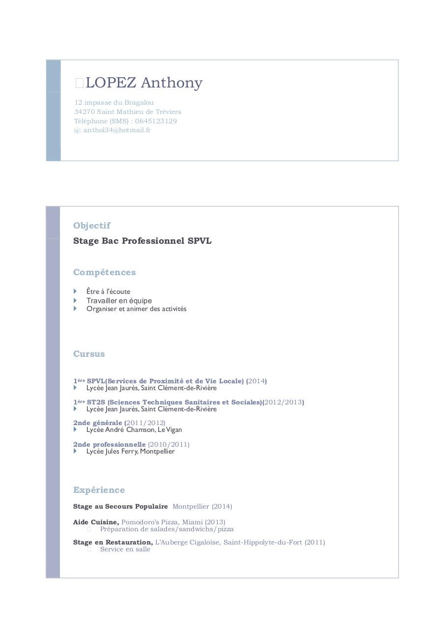 how to right a cv pdf