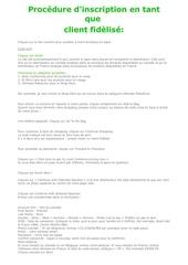 Fichier PDF s inscrire en temps que client fidele