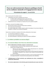 synthese presentation rapport depense