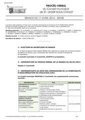 Fichier PDF proces verbal