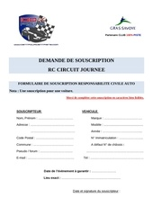 souscription rc circuit journee