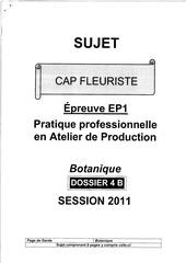 Fichier PDF sujet botanique 2011