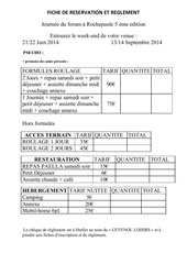 rochepaule fiche de reservation 2014