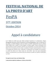 appel candidature fespa 2014