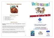 programme p ques 2014