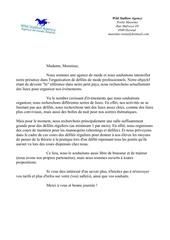 lettre aux proprietaires de salles