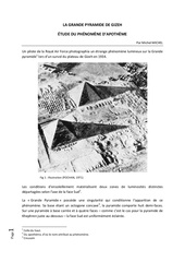 phenomene d apotheme sur la grande pyramide