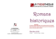 romans historiques oct 2013