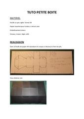Fichier PDF tuto petite boite