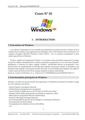 cours windows xp