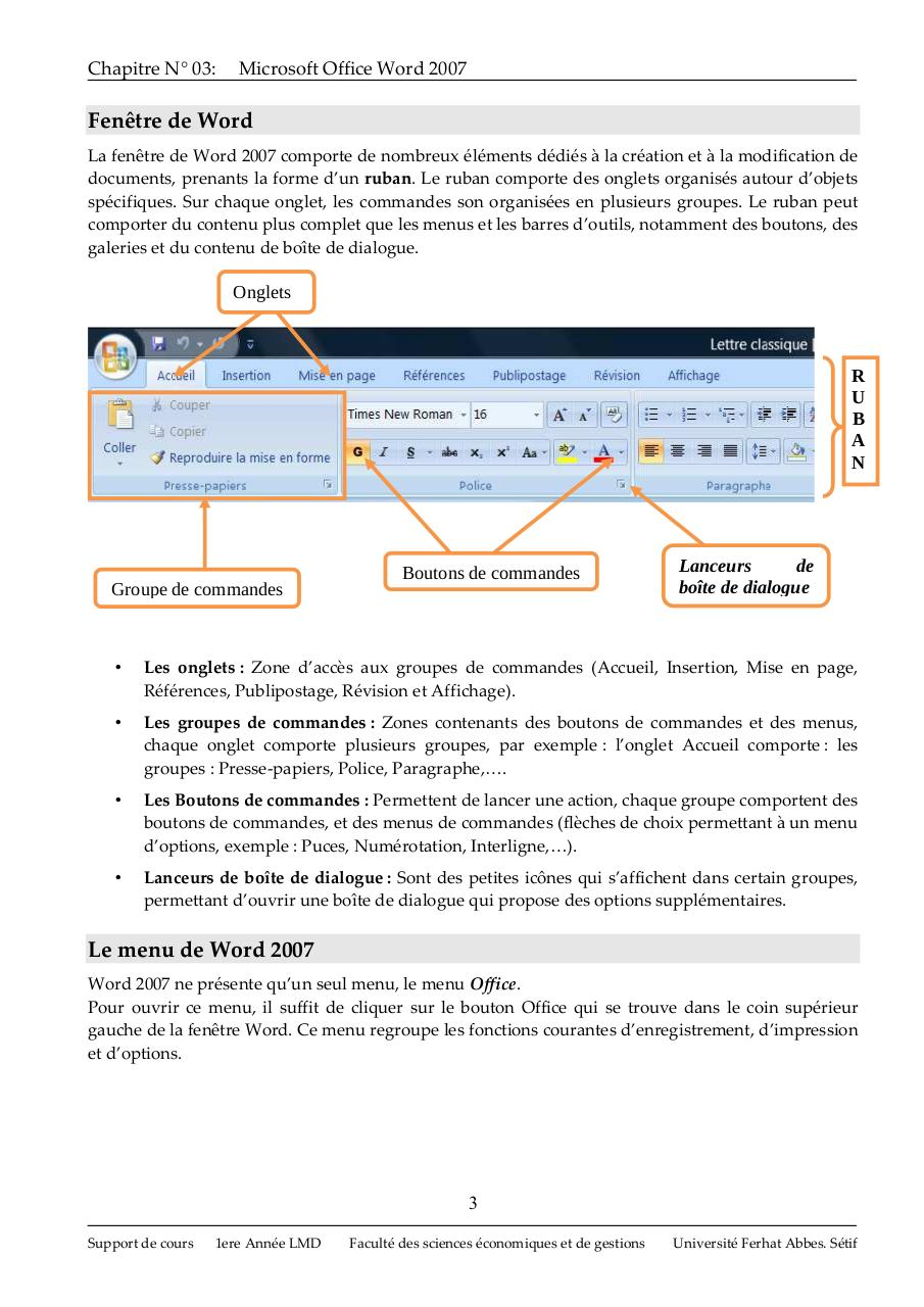 Cours Word 2007.pdf - page 3/32