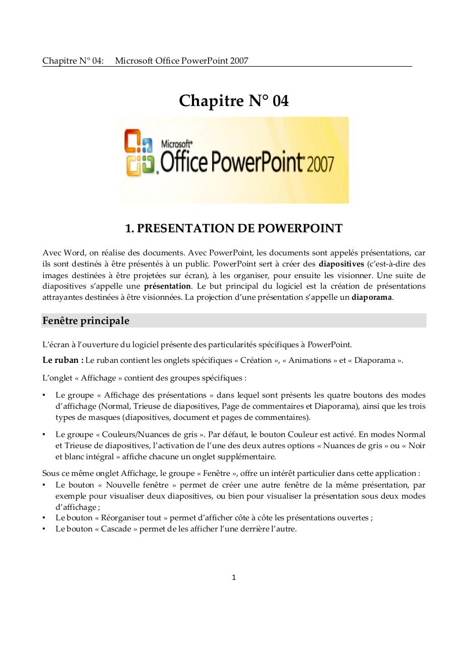 POWER POINT 2007.pdf - page 1/30