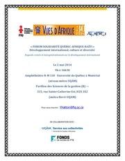 forum solidaritE vue d afrique 23 avril 14