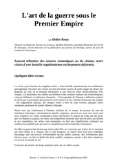 art de la guerre premier empire
