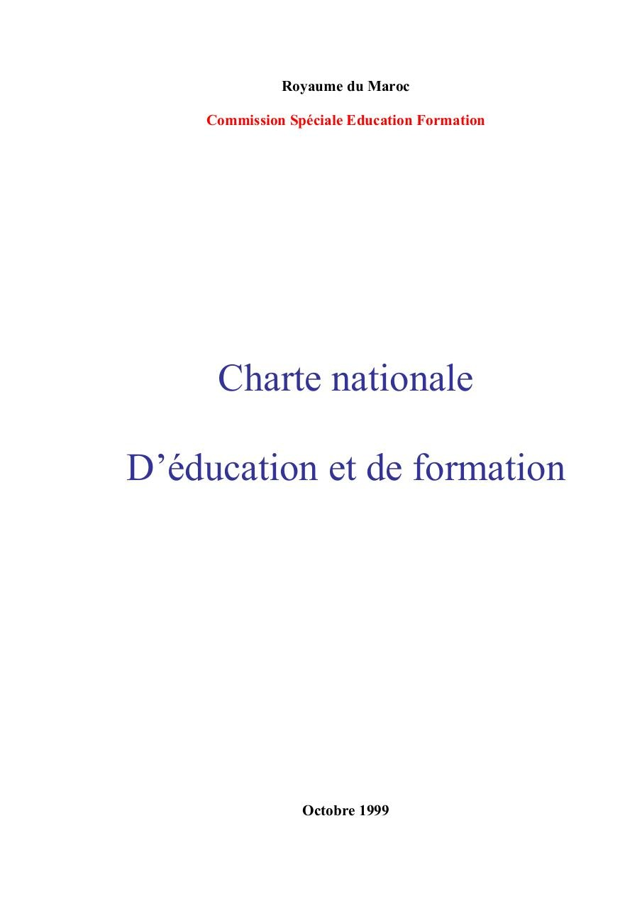 Morocco Charte nationale Education Formation.pdf - page 1/81