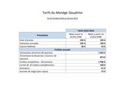 tarifs dauphine