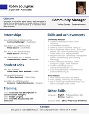 cv robinsoulignac english