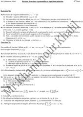 fonctions exponentielles et logarithme neperien