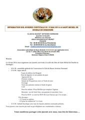 information sur journee du 18 mai 2014