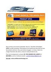 produits confidence technology