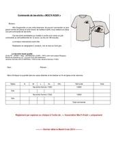 Fichier PDF bon de commande tee shirts 2014