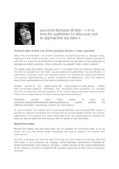 integral interview of laurence bonicalzi bridier on viuz