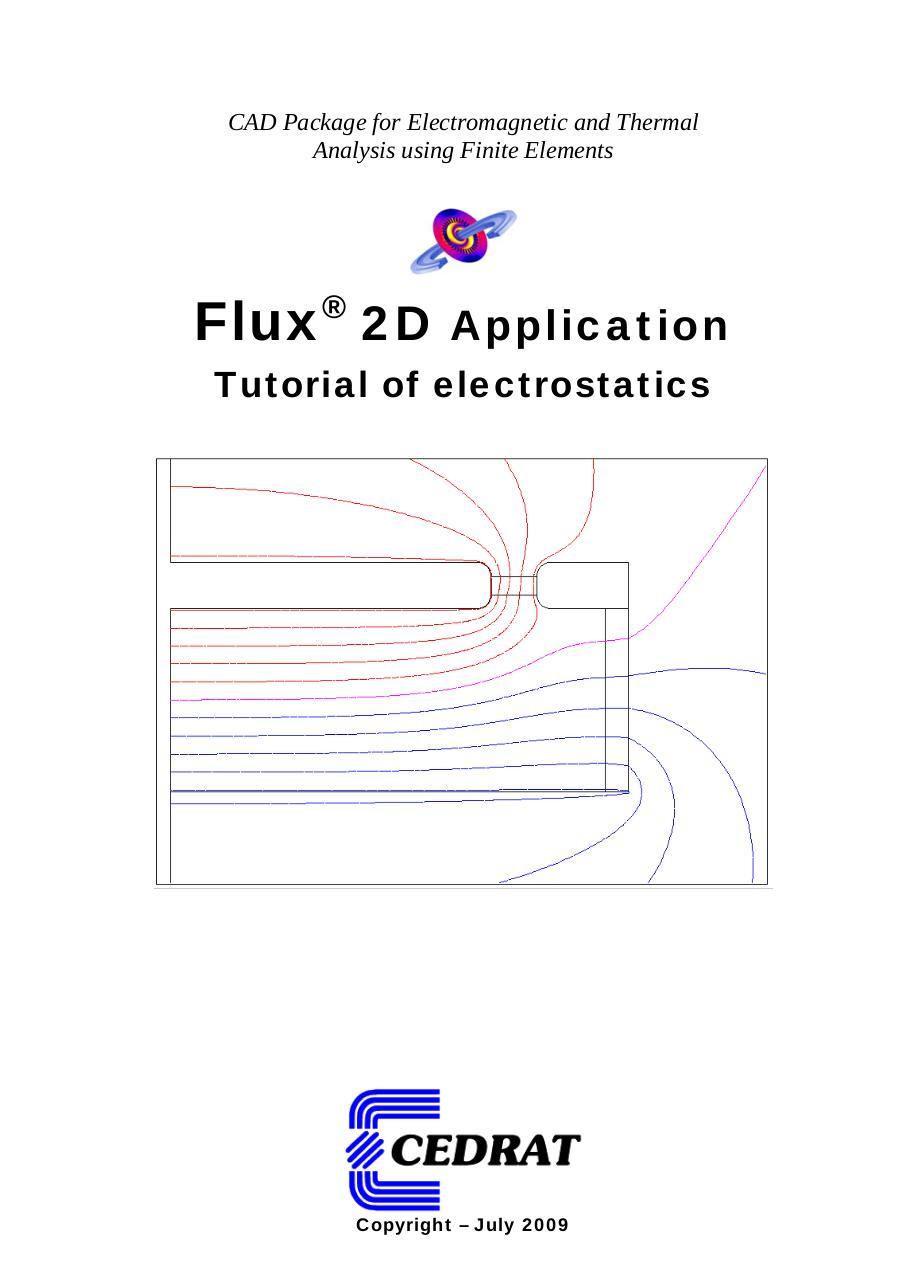 Tutorial Electrostatics par Jelena Bartak - Fichier PDF
