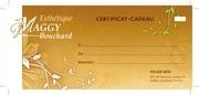 certificat cadeau esthetique maggy bouchard