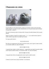 chaussons en coton