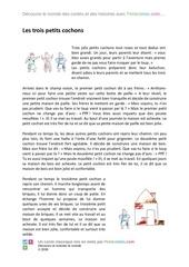 Fichier PDF 3 petits cochons