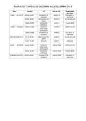 emploi du temps du 16 au 20 decembre 2013