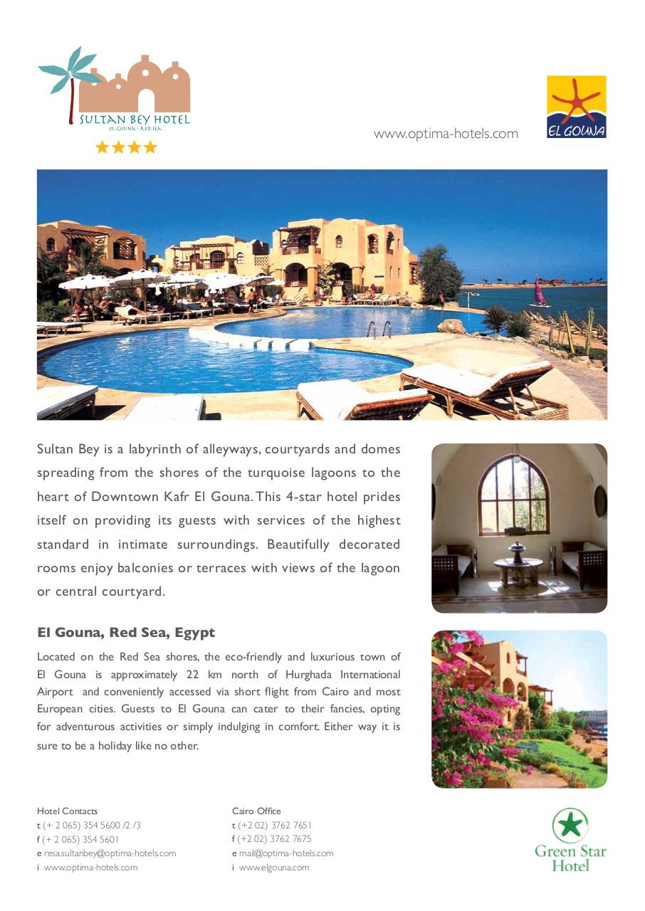 Sultan Bey Hotel Fact Sheet.pdf - page 1/2