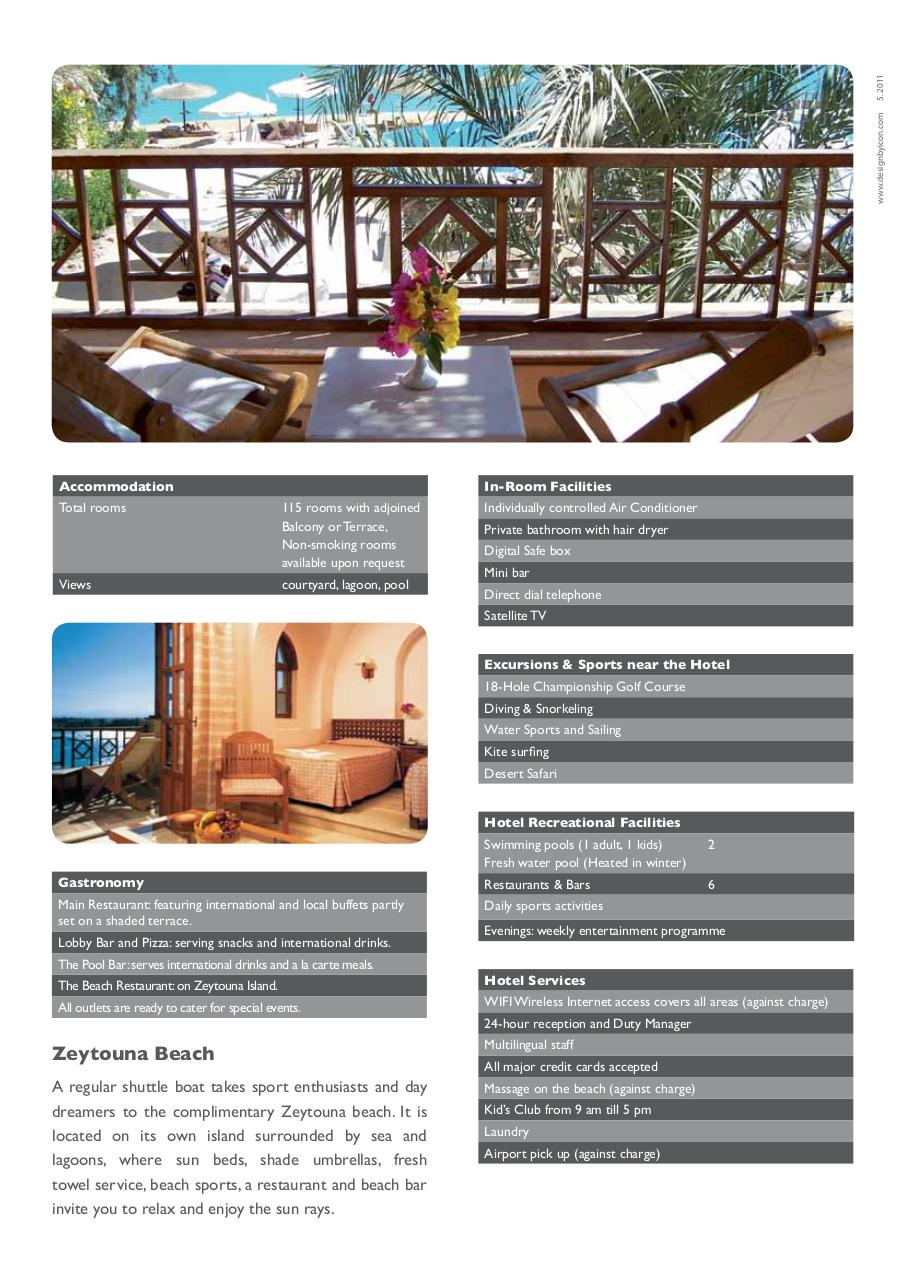 Sultan Bey Hotel Fact Sheet.pdf - page 2/2