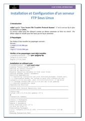 installation et configuration d un serveur ftp sous linux