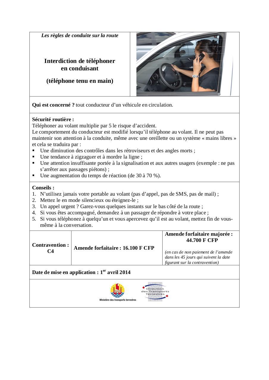 l 39 interdiction de t l phoner en conduisant par s3tsch le telephone au volant pdf fichier pdf. Black Bedroom Furniture Sets. Home Design Ideas