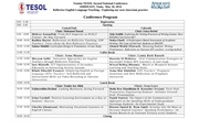 tesol second national conference programme