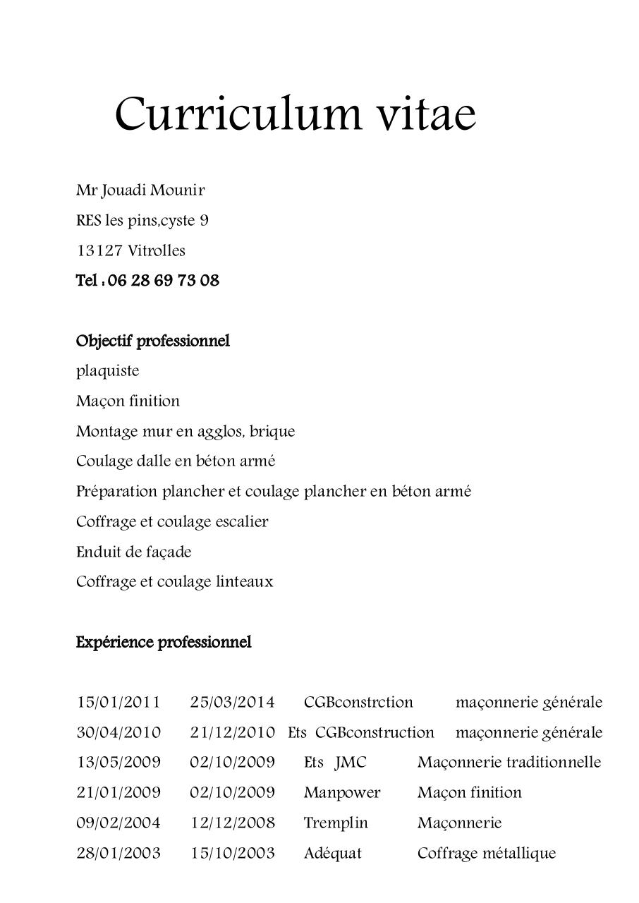 cv de mounir j pdf par mounir
