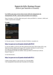 Fichier PDF faille boutique