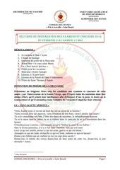 neuvaine de preparation des examens et concours 2014