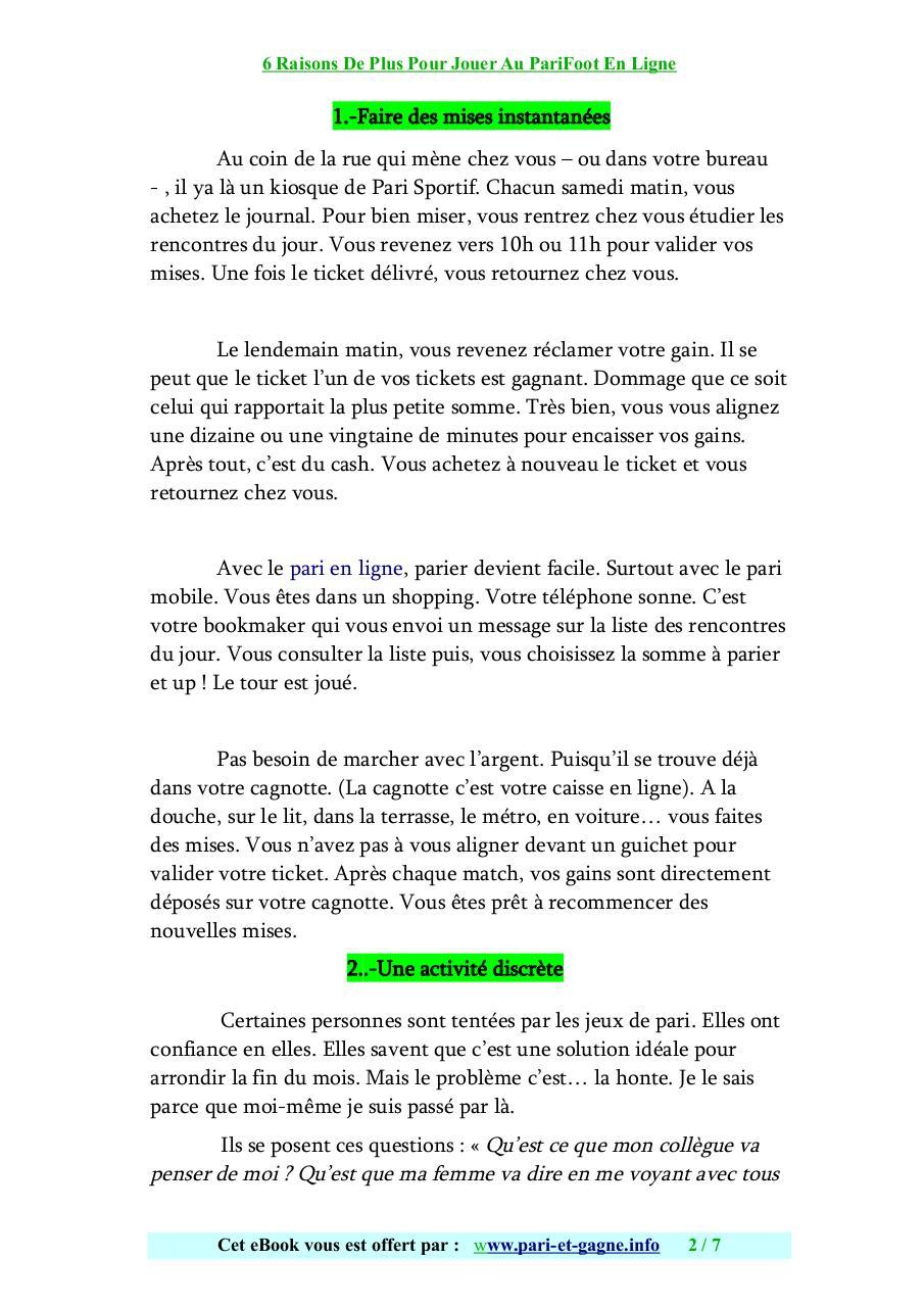 PARIFOOT GRATUITEMENT JOURNAL TÉLÉCHARGER
