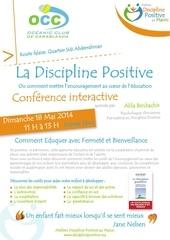 affiche conference discipline positive