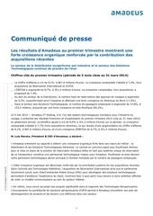 amadeus resultats financiers q1 09 05 2014