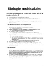 biologie mole culaire re sume lauriane