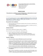 formulaire mise en candidature 2014