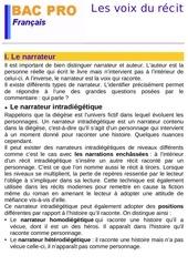Fichier PDF les statuts du narrateurs